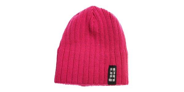 Růžová pletená čepice Envy