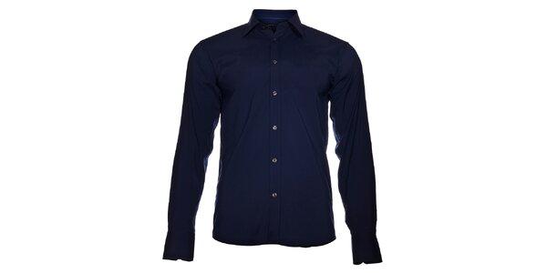 Pánská tmavě modrá košile Selected