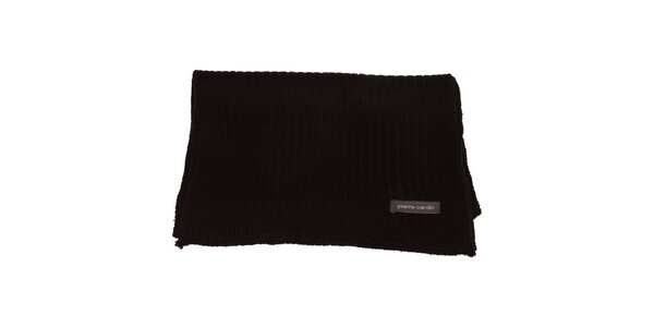 Černá pletená šála Pierre Cardin