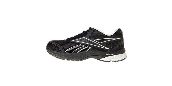 Dámské černé běžecké boty Reebok se stříbrnými detaily