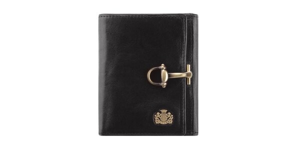 Pánská černá kožená peněženka s přezkou Wittchen