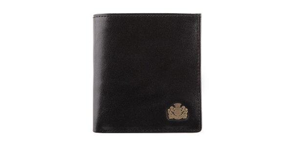 Dámská rozkládací černá peněženka s logem Wittchen