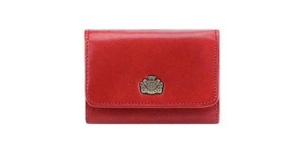 Dámská červená peněženka z kůže Wittchen