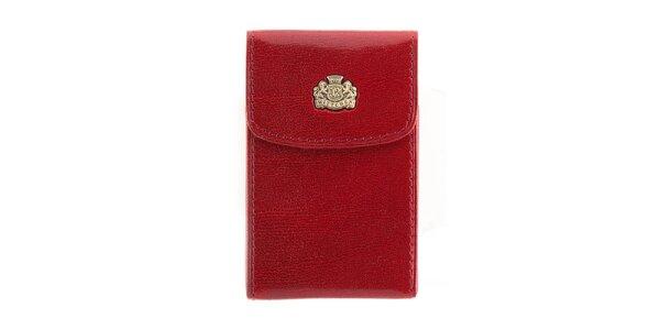 Červené kožené pouzdro na vizitky Wittchen