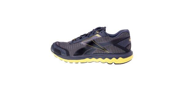 Pánské tmavě šedé běžecké boty Reebok se žlutými detaily