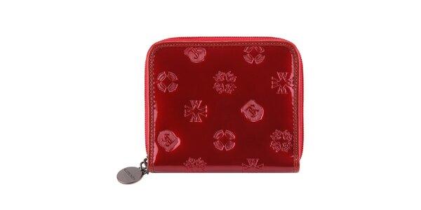 Dámská lakovaná červená peněženka Wittchen