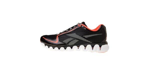 Pánské černé běžecké boty Reebok s technologií ZigTech a růžovými detaily