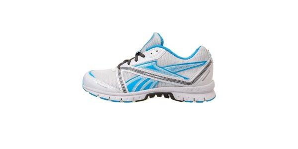 Dámské bílé běžecké boty Reebok se světle modrými prvky