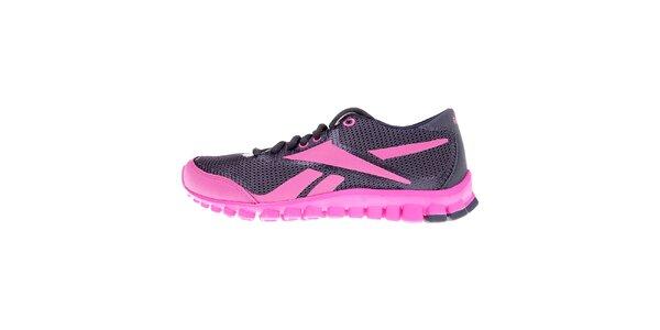 Dámské šedo-růžové bežecké boty Reebok s technologií RealFlex