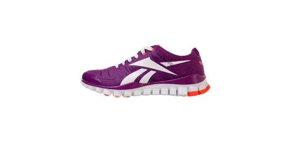 Dámské tmavě fialové tréninkové boty Reebok s technologií RealFlex
