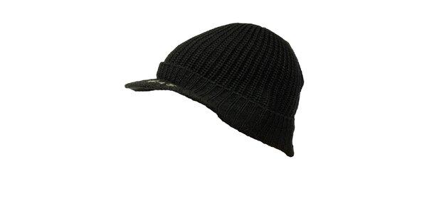 Pánská černá čepice s kšiltem GAS