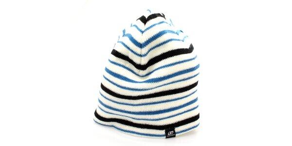 Dámská čepice s modro-černými pruhy Hannah