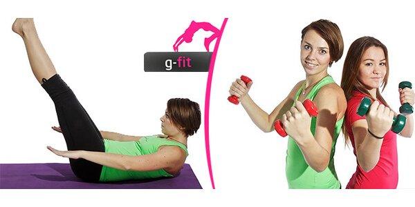 3 druhy cvičení v G-fit studiu v Brně