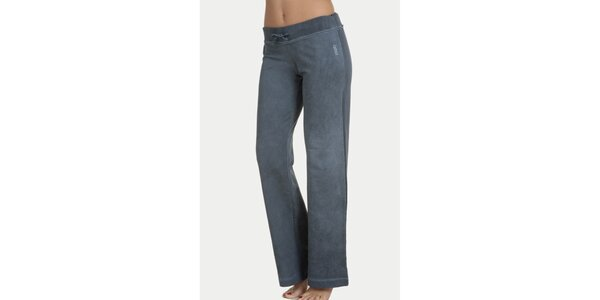 Dámské modrošedé pyžamové kalhoty QBO