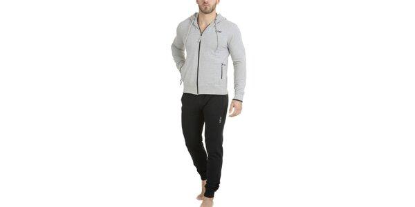 Pánské dvoubarevné pyžamo - mikina a kalhoty QBO