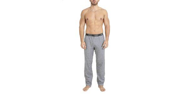 Pánské kostkované flanelové kalhoty na spaní