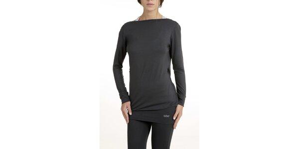 Dámské šedé pyžamo s rafinovanými zády QBO