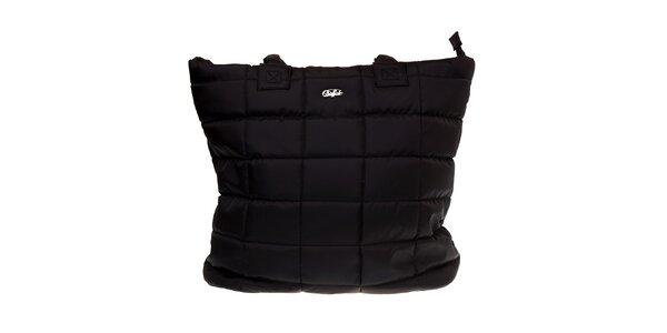 Dámská velká černá prošívaná taška Buffalo