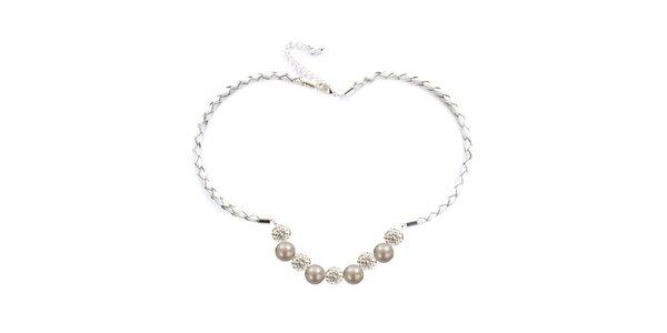 Dámský náhrdelník s oranžovorůžovými perlami Swarovski Royal Adamas