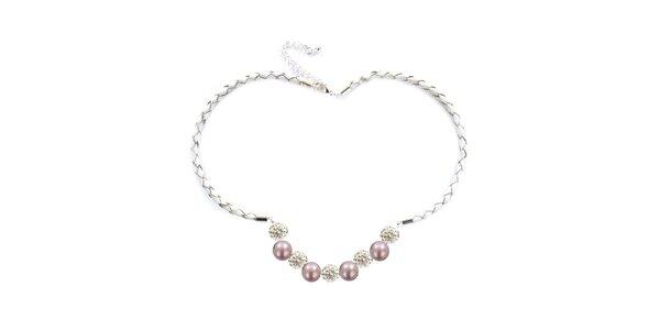 Dámský náhrdelník s růžovými perlami Swarovski Royal Adamas
