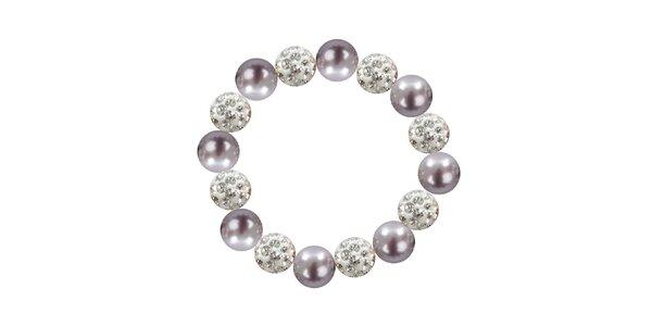 Dámský náramek s fialovými perlami Swarovski Royal Adamas