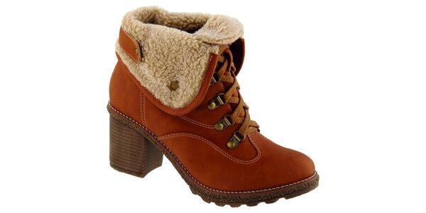 Dámské hnědooranžové šněrovací boty Betsy