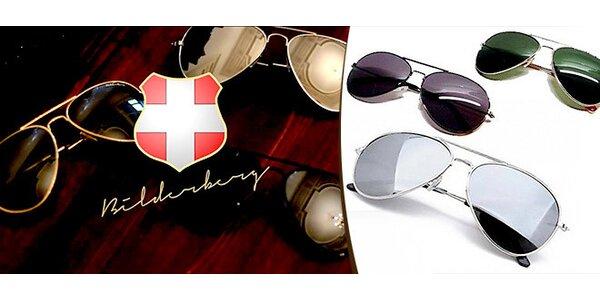 Sada 3 slunečních brýlí Aviator Bilderberg