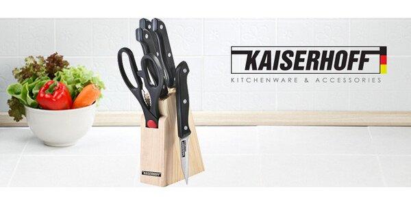 Sada nožů Kaiserhoff v dřevěném bloku