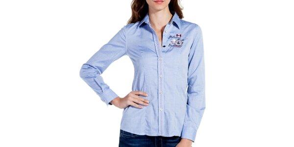 Dámská bledě modrá sportovní košile Galvanni