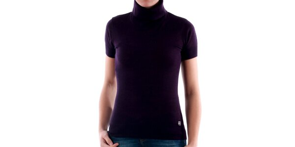 Dámský fialový roláček s krátkým rukávem Amy Gee