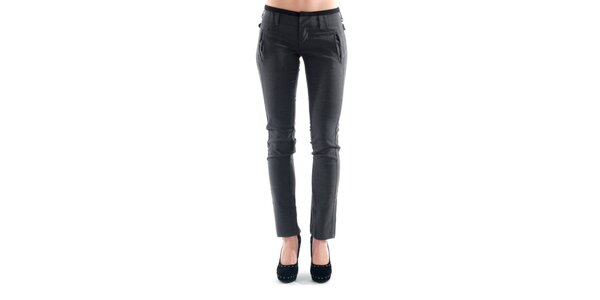 Dámské šedé kalhoty s přezkami na bocích Amy Gee