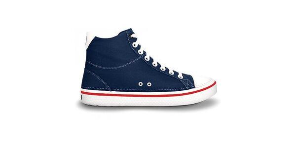 Pánské tmavě modré kotníčkové tenisky Crocs s červeným proužkem