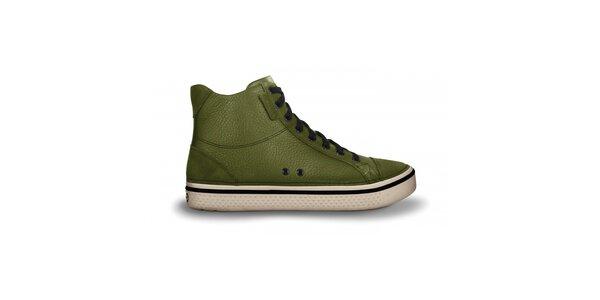 Pánské zelené kotníčkové tenisky Crocs