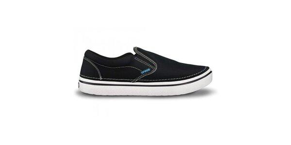 Pánské černé nazouvací tenisky Crocs