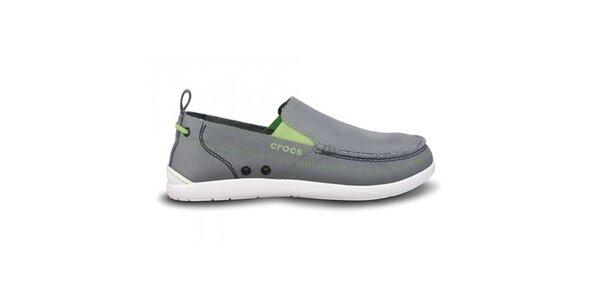 Pánské šedé plátěné polobotky Crocs