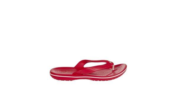 Pánské červené žabky Crocs s masážní stélkou