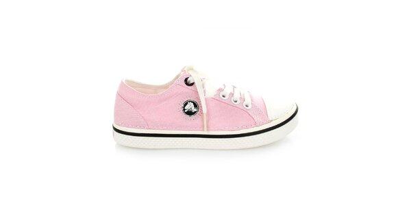 b4627c97c9 Dámské růžové plátěné tenisky Crocs