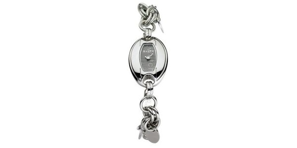 Dámske hodinky Mango se stříbrným řemínkem a bílým ciferníkem