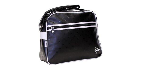 Sportovní černá taška s bílým logem Dunlop