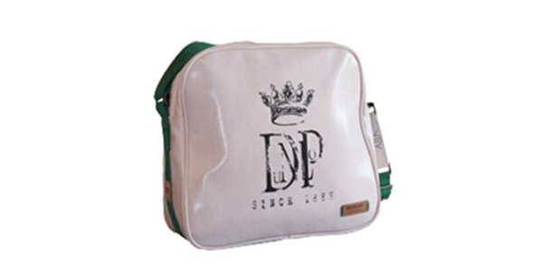 Bílá taška přes rameno se zeleným popruhem Dunlop