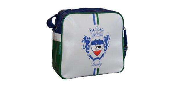Modro-bílo-zelená taška přes rameno Dunlop