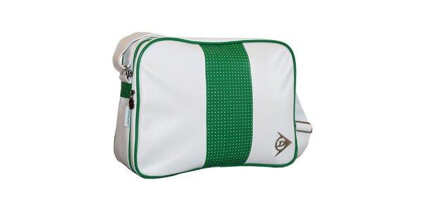 Bílo-zelená taška přes rameno Dunlop