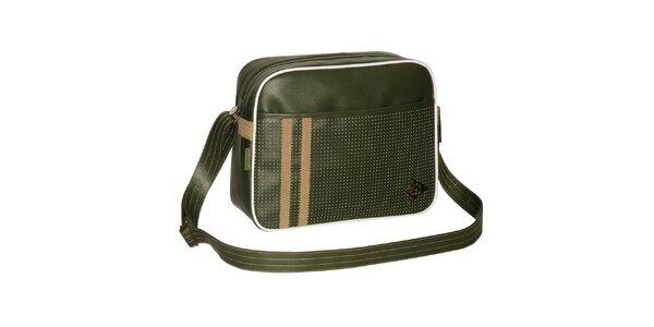 Zelená retro sportovní taška Dunlop