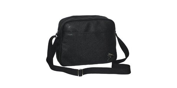 Černá sportovní taška přes rameno Dunlop