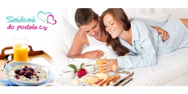 199 Kč za vydatnou snídani do postele s dovozem zdarma. Sleva 50 %.