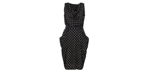 Dámské černé šaty s potiskem Uttam Boutique
