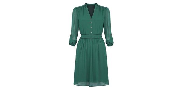 Dámské smaragdově zelené šaty Uttam Boutique