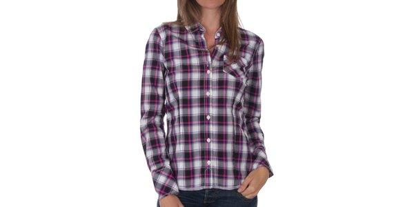 Dámská šedorůžová kostkovaná košile Tommy Hilfiger