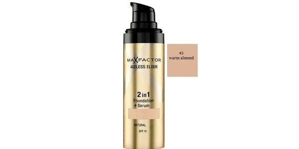 MF Ageless Elixir 2in1 45 Warm Almond, make-up