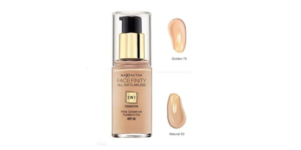 MF Facefinity 3 in 1 Foundation 75 Golden ,make-up